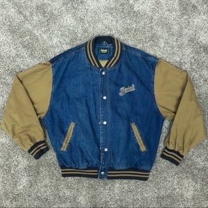 Vintage Dunbrooke Embroidered Denim Varsity Jacket